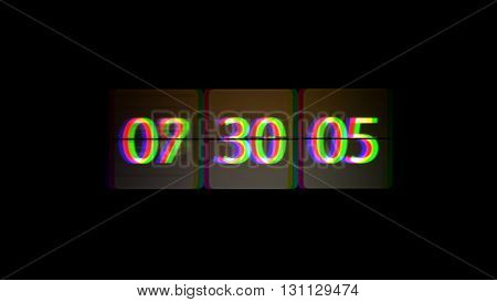 Chaotic Moving Clock. Infinitely Fast Moving Clock. The Concept Of Bending Time And Space. Grunge Cl