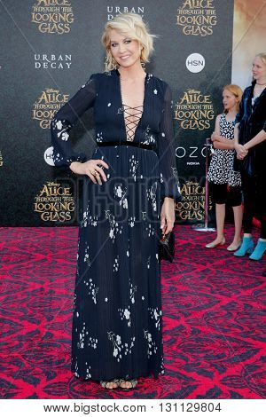 Jenna Elfman at the Los Angeles premiere of 'Alice Through The Looking Glass' held at the El Capitan Theater in Hollywood, USA on May 23, 2016.