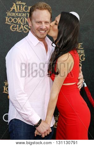 Ian Ziering at the Los Angeles premiere of 'Alice Through The Looking Glass' held at the El Capitan Theater in Hollywood, USA on May 23, 2016.