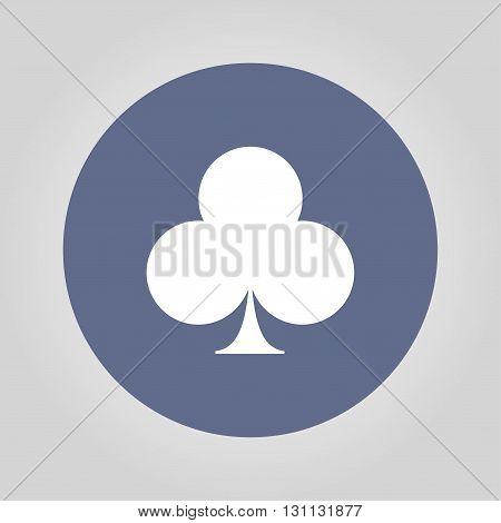 poker icon. Flat design style eps 10