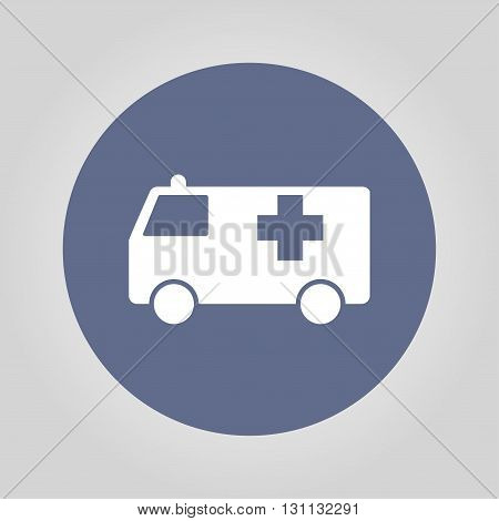 ambulance icon. Flat design style eps 10