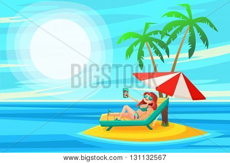 Summer Holidays Background.