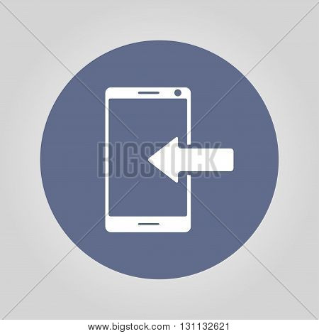 smartphone icon Vector Flat design style EPS