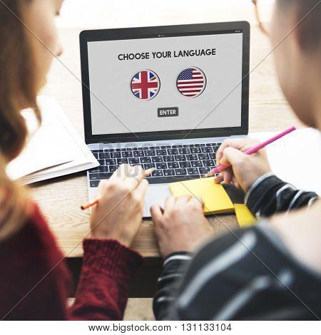 Language Dictionary English American Concept