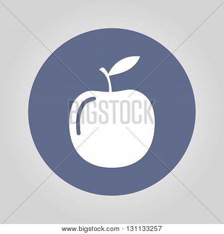 apple - vector icon. Flat design style EPS