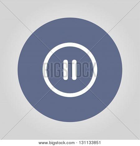 pause flat web icon. Flat design style eps 10