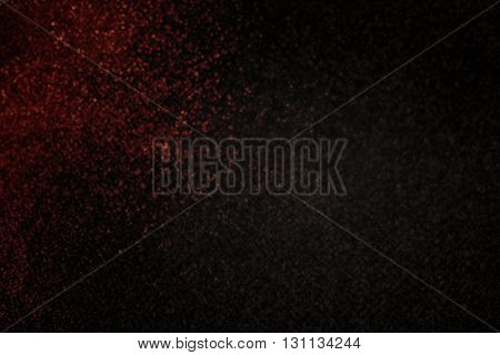 Abstract Dark Red Small Glitter Sparkle Bokeh On Black For Abstract Mystery Or Mystic Mood Backgroun