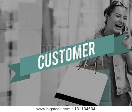 Customer Service Goods Buyer Concept