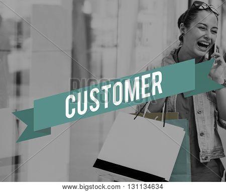 Customer Service Goods Buyer Concept