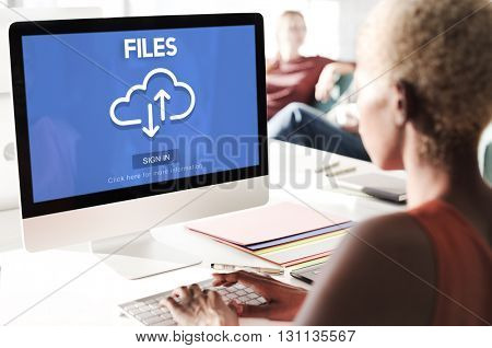 Files Documents Digital Assets Online Website Concept