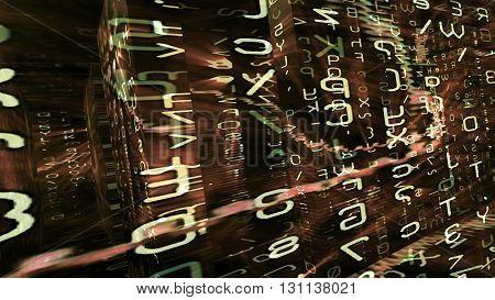 Conceptual futuristic technology digital light abstraction. High resolution illustration 10892.