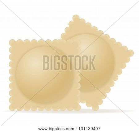 Dumplings Ravioli Of Dough With A Filling Vector Illustration
