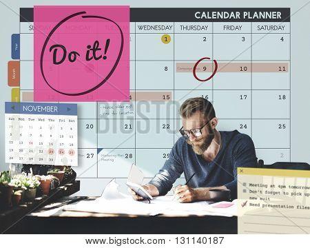 Do It Encouragement Motivation Progress Concept