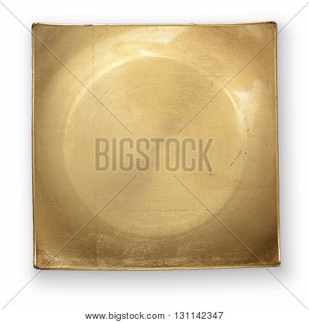 Golden Plate With Clipping Path