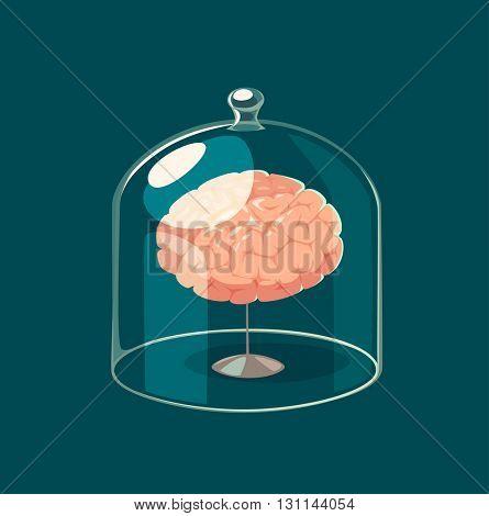 Brain standard. Concept vector illustration.