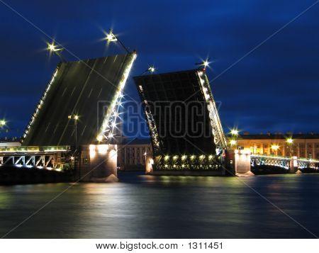 The Palace Bridge In St.Petersburg.