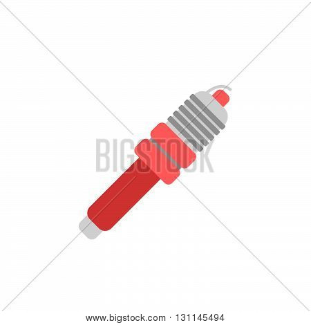 Car spark plug vector icon. automotive. .