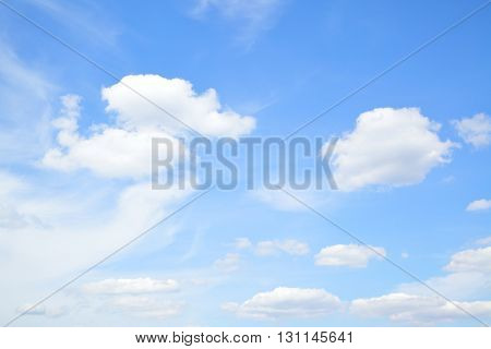 Summer sky with light cumulus clouds - may be used as background