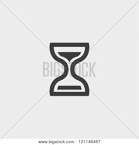 Hourglass time icon in a flat design in black color. Vector illustration eps10