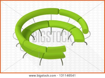 sofa vector 3d illustration isometric perspective view