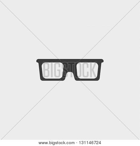 Sunglasses icon in a flat design in black color. Vector illustration eps10