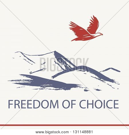 Vector Logo Business Training About Freedom Of Choice. Illustrat