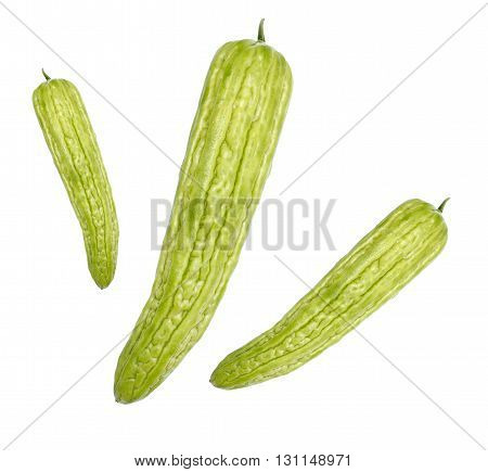 Gourd vegetable raw material for cook photo isolate on white background