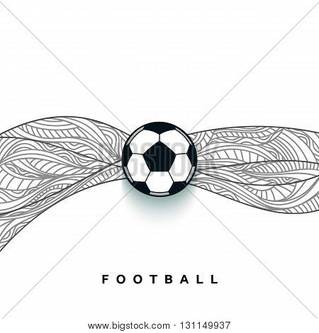 Soccer ball banner with background. Football ball concept