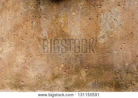 orange sandstone wall for background or texture