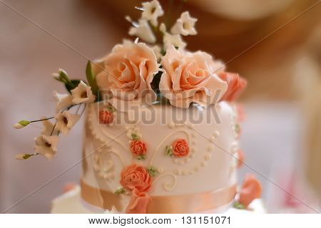 Top Of Tasty Wedding Cake