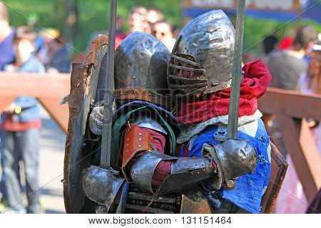 The Medieval Knights In The Battle