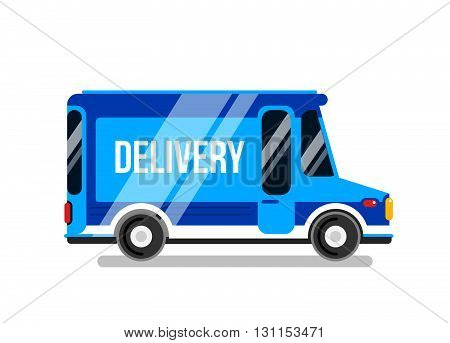Delivery Car Vector Illustration. Express Delivery Car.
