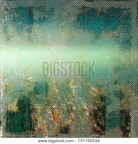 Vintage background in scrap-booking style, faded grunge texture with different color patterns: yellow (beige); brown; green; blue; gray; cyan