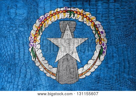 Flag Of Northern Mariana Islands, On A Luxurious, Fashionable Ca