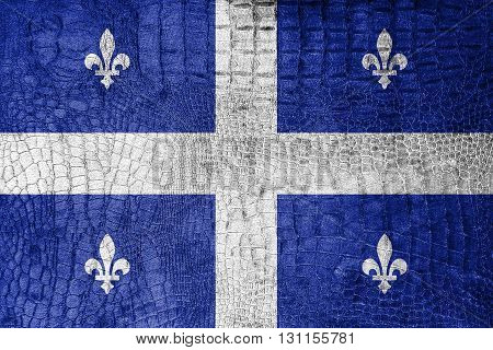 Flag Of Quebec, On A Luxurious, Fashionable Canvas