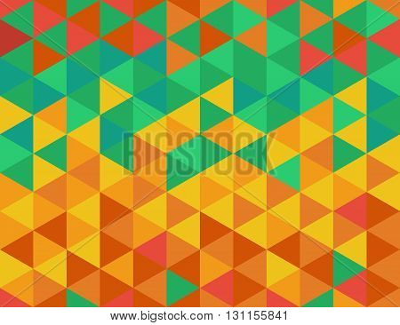 Triangles color seamless pattern with triangles of cool and warm colors.