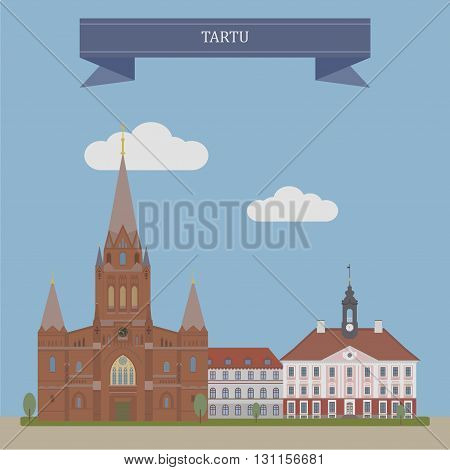 Tartu, second largest city of Estonia, Europe