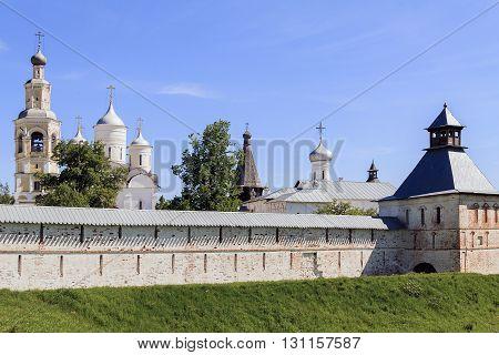 Vologda, Russia - May 29: This is fortress and the Spaso-Prilutsky Monastery May 29, 2013 in Vologda, Russia.