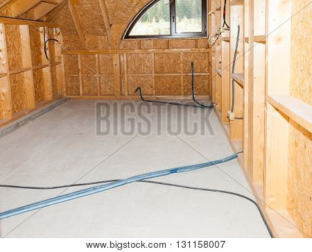 View of an interior construction new residential home