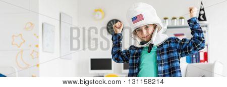 Boy With Space Helmet