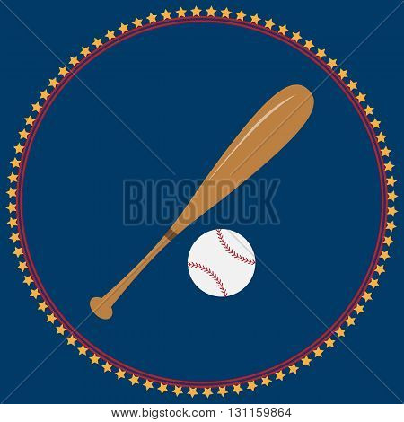 Baseball icon Baseball icon eps10 Baseball icon vector flat. For t-shirt designs. illustration of vintage baseball label. sports logo element