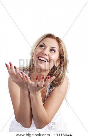 Porträt eines Mädchens mit Ausdruck Emotionen.