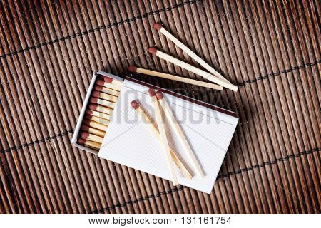 Box of wooden matches