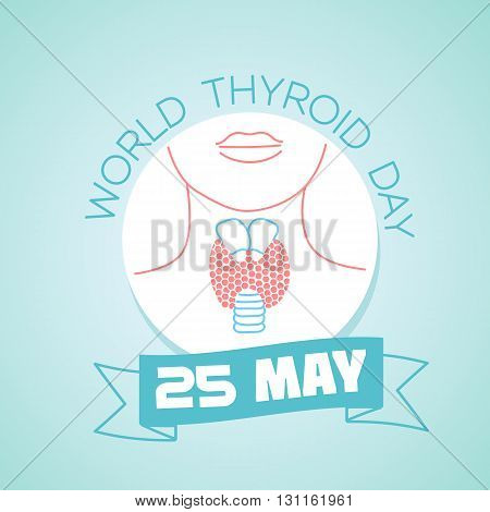 Calendar for each day on may 25. World Thyroid Day. Holiday - Day of parks. Icon in the linear style