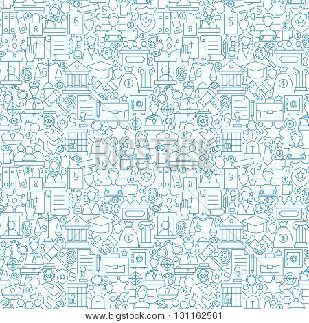 Thin Line Law Attorney And Justice White Seamless Pattern