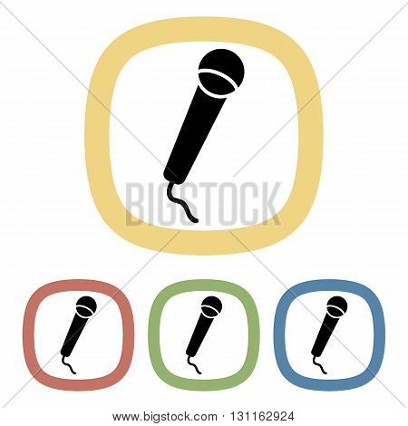 Microphone colorful icon. Set of microphone icons
