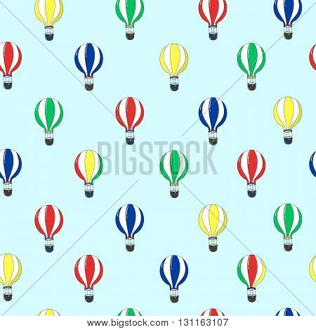 Vector seamless pattern with colorful balloons. Texture for web, print, textile, fabric, home decor, wrapping paper. The possibility of using this template is limitless as your imagination.