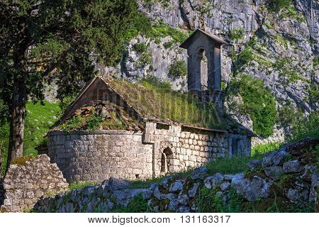 Chapel Of Saint Ivan Behind Kotor's Castle Of San Giovanni, Montenegro