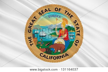 Flag of California is the most populous state in the United States