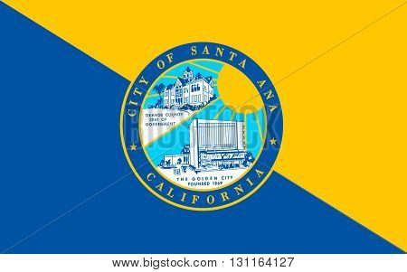 Flag of Santa Ana is the county seat and second most populous city in Orange County California USA
